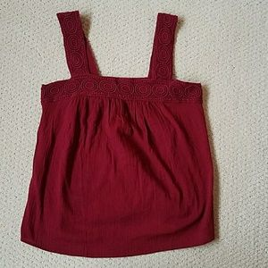 New with Tags Old Navy Red Embroidered Tank